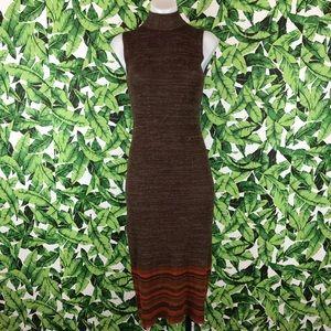 5 for $25 Derek Heart Turtleneck Ribbed Midi Dress